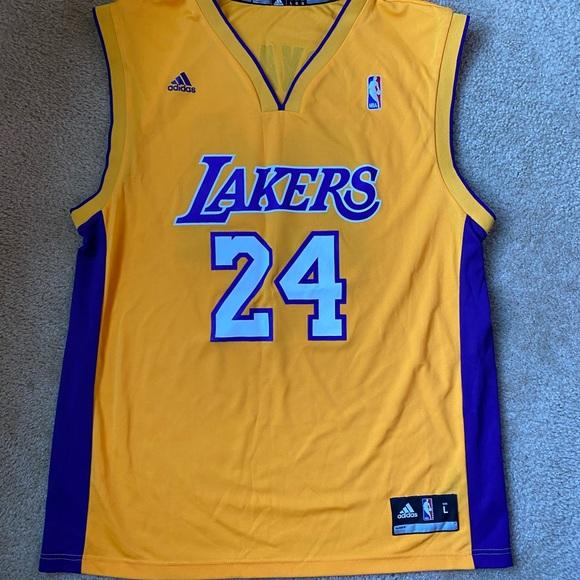 adidas Shirts | Kobe Bryant La Lakers Jersey 24 Adidas Size L ...